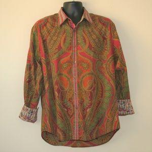 Robert Graham Paisley / Guitar Pint Shirt Size XL